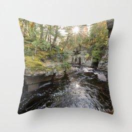 Sturgeon River Canyon in Michigan's Upper Peninsula Throw Pillow