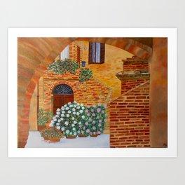 Village in Tuscany #2 Art Print