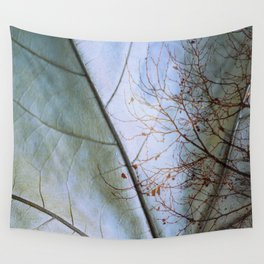Tree reflection on its leaf Wall Tapestry
