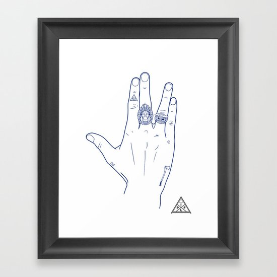 Make My Hands Famous - Part V Framed Art Print