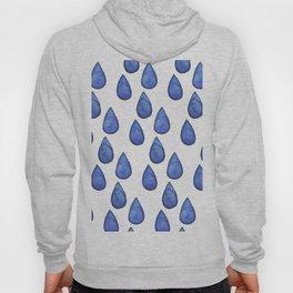 Watercolor raindrops Hoody