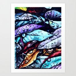 Foliage watercolor painting art Art Print