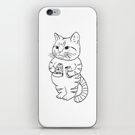 Eating Meow iPhone Skin