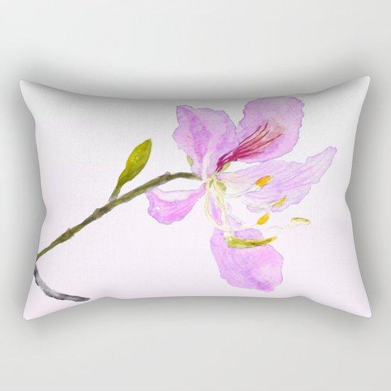 purple Buahinia Rectangular Pillow