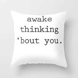 Wide Awake Print Throw Pillow