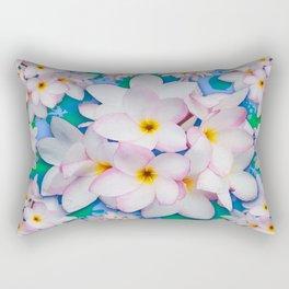 Plumeria Bouquet Exotic Summer Pattern Rectangular Pillow