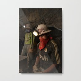 Bolivian Miners Metal Print