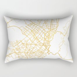 BOGOTA COLOMBIA CITY STREET MAP ART Rectangular Pillow