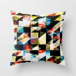 Colorful Geometric Reflections Throw Pillow