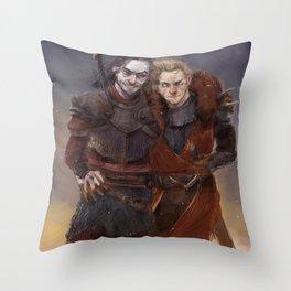 Sullen Throw Pillow
