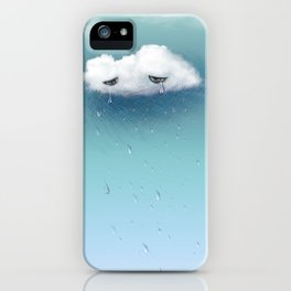 crying cloud iPhone Case