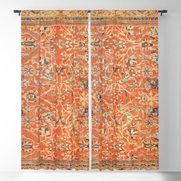 Antique Persian Sultanabad Rug Print Blackout Curtain