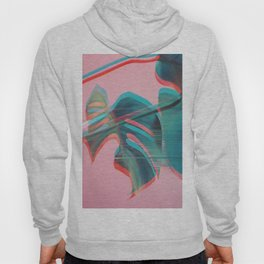 Glitch Monstera Theme Hoody