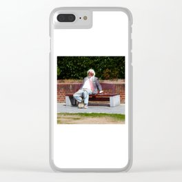Down on his Luck Clear iPhone Case
