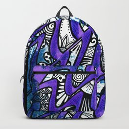 Tangles in the purple waves Backpack