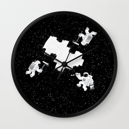 Incomplete Space Wall Clock