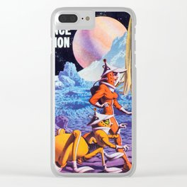 SEED - Vintage Pulp Art Print Clear iPhone Case