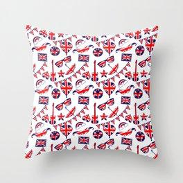 London Union Jack British Pattern Throw Pillow