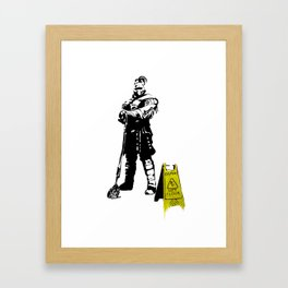 Every day heroes - Mop Champion Framed Art Print