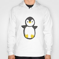 penguin Hoodies featuring penguin by Julie Zhang