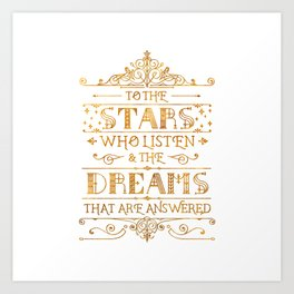 To the Stars - White Art Print