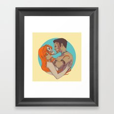 Sick Love Framed Art Print