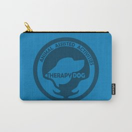 Animal Assisted Activities  - THERAPY DOG logo dog help Carry-All Pouch