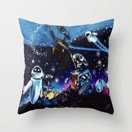 Wall-E Collage Throw Pillow