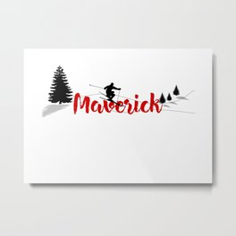Ski at Maverick Metal Print