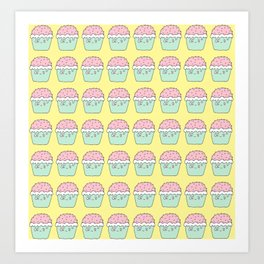 Yellow cup cakes Art Print