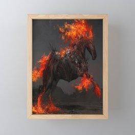 Fire Truck Red Framed Mini Art Print
