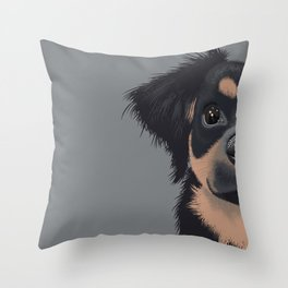 Mila the Carlin Pinscher Throw Pillow
