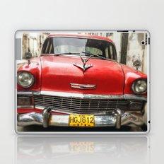 Vintage Red American Car on the Streets of Havana. Laptop & iPad Skin