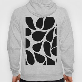 Abstract Black & White Foliage Pattern - Mix and Match with Simplicity of Life Hoody