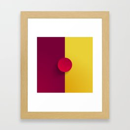 Maroon Festival Framed Art Print