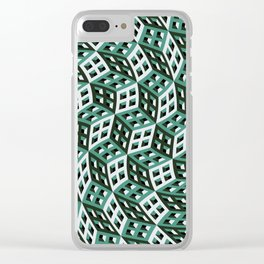 Abstract twisted cubes Clear iPhone Case