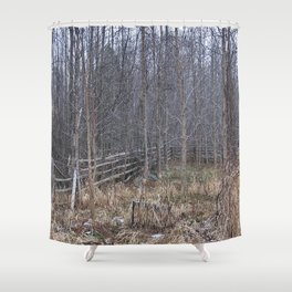 Fenced-in and Neglected Shower Curtain