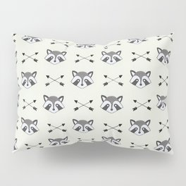 Raccoons and Arrows Pillow Sham