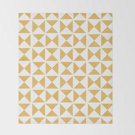 Mustard yellow Mid century Throw Blanket