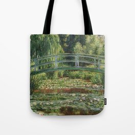 Monet - The Japanese Footbridge and the Water Lily Pool Tote Bag