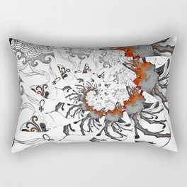 Earth Form Spiral Rectangular Pillow