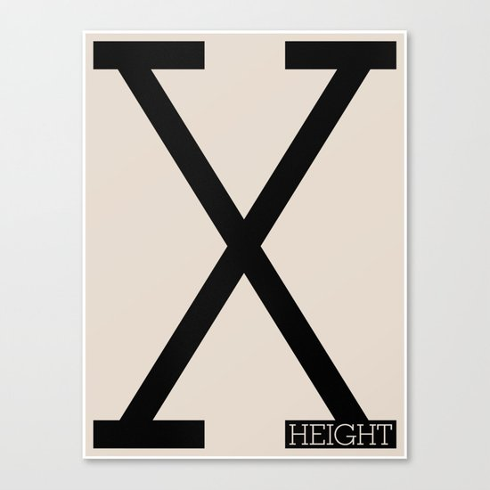 X-Height Canvas Print