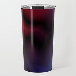 Cosmic sparkling hole of blue zigzags and red spots. Travel Mug