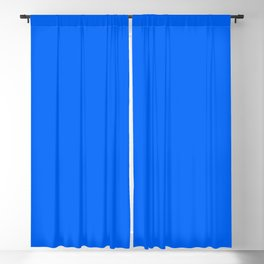 Unfinished ~ Bright Blue Blackout Curtain