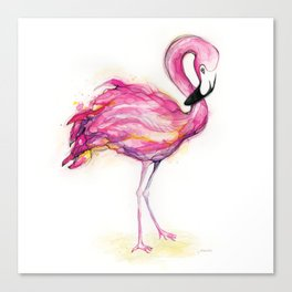 Isla's Flamingo Canvas Print