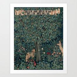 William Morris Greenery Tapestry Pt 2 Art Print