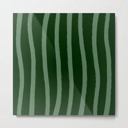 Paint Lines Vertical Greens Metal Print