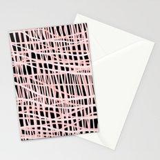 Net Blush on Black Stationery Cards