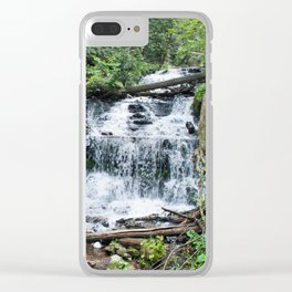 Wagner Falls, Munising, Michigan Clear iPhone Case