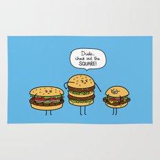 Burger Bullies Rug